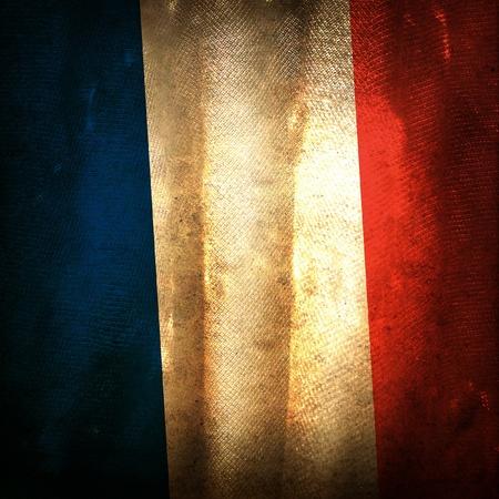 bandera francia: Bandera del grunge antiguo de Francia
