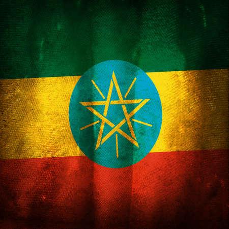 ethiopia: Old grunge flag of Ethiopia