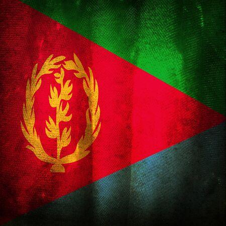 eritrea: Old grunge flag of Eritrea