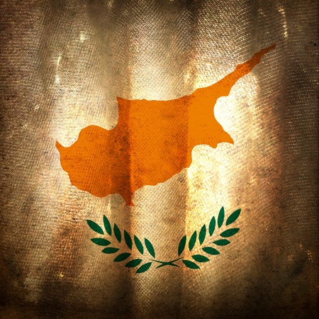 bad condition: Old grunge flag of Cyprus