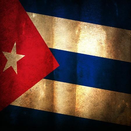 Old grunge flag of Cuba