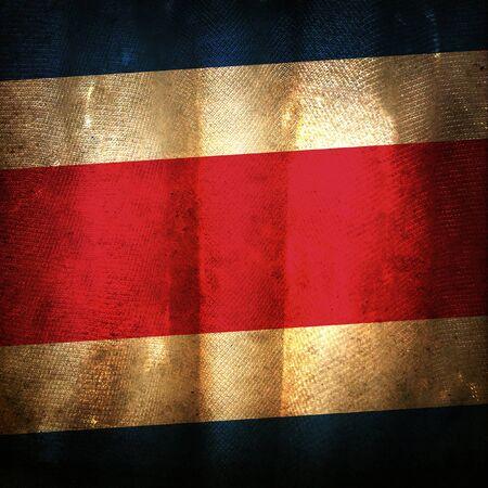 bandera de costa rica: La bandera del grunge antiguo de Costa Rica