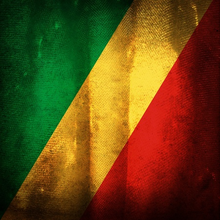 republic of the congo: Old grunge flag of Republic of congo Stock Photo