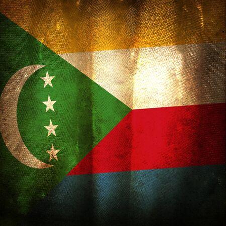 comoros: Old grunge flag of Comoros