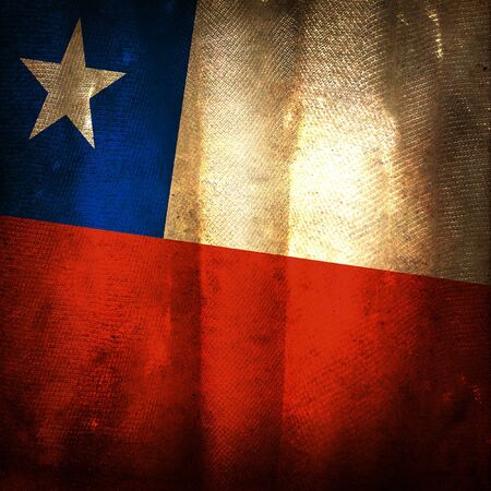 Old grunge flag of Chile photo