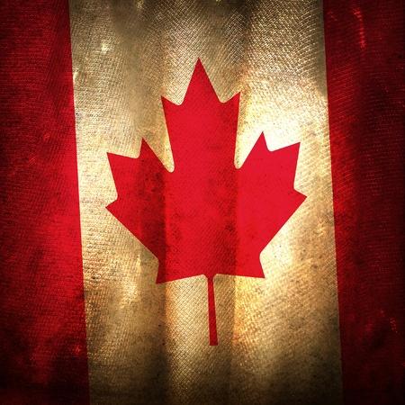 antiqued: Old grunge flag of Canada