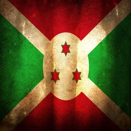 burundi: Old grunge flag of Burundi