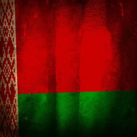 belarus: Old grunge flag of Belarus