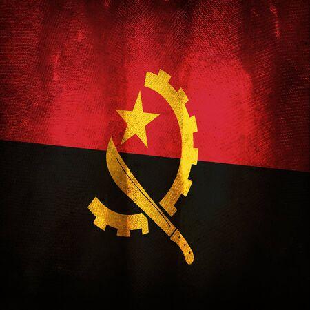 angola: Old grunge flag of Angola