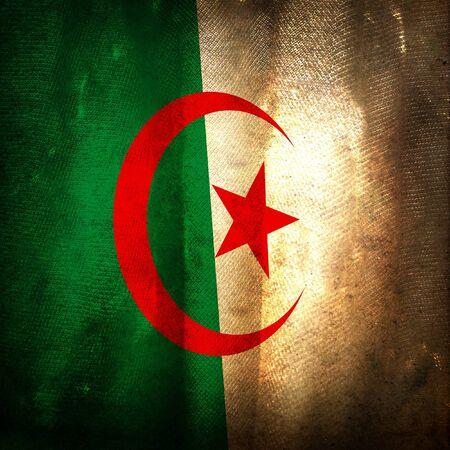 algeria: Old grunge flag of Algeria