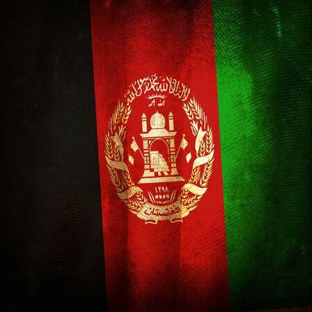 afghanistan: Old grunge flag of Afghanistan Stock Photo