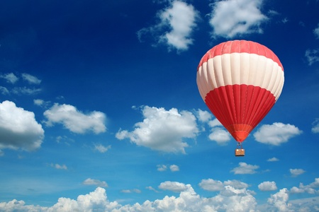 colored balloons: Hot Air Balloon and blue sky  Stock Photo