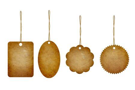 Precio de etiqueta de la colecci�n en blanco