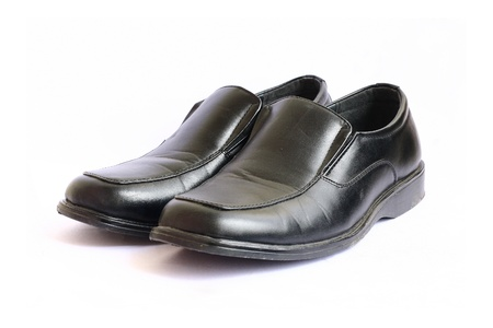 scuffed: Black Leather shoes