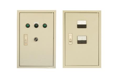 control box: electric control box  Stock Photo