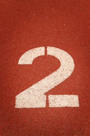 athletics track: Number 2 on running track