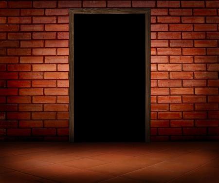 dark room with door photo