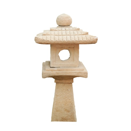 japanese fall foliage: japanese stone lamp