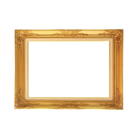 mirror image: blank wooden photo frame