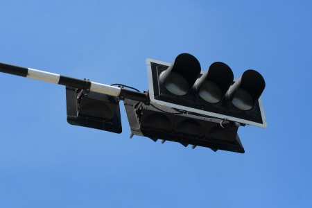 Traffic signal and blue sky Stock Photo - 13813905