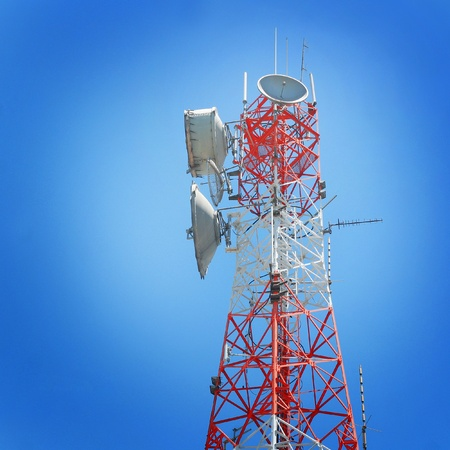 3g: Telecommunications tower and blue sky