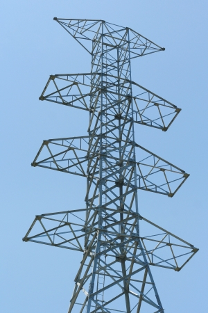 High voltage and sky photo