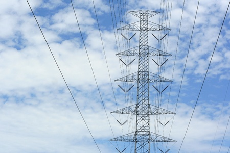 High voltage and blue sky photo