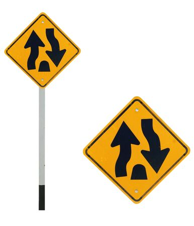 curvaceous: Dual carriage way end traffic sign Stock Photo