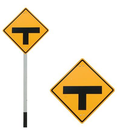 trip hazard sign: Intersection traffic sign