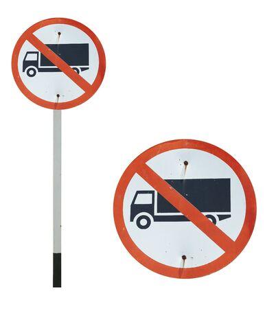 symbolization: No entry truck traffic sign Stock Photo