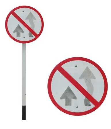 No passing traffic sign Stock Photo - 13813901