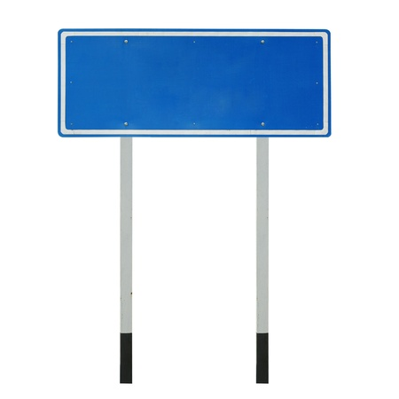 highway sign: Blank traffic sign