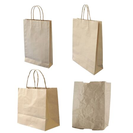 collections of isolated paper bag photo