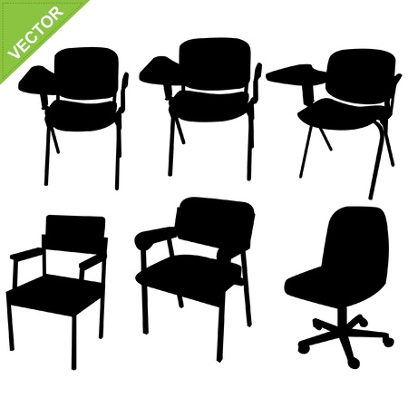 lecture room: Chair silhouettes