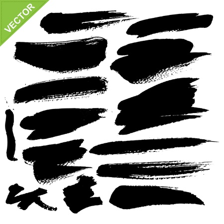 brush stroke: brush strokes  Illustration