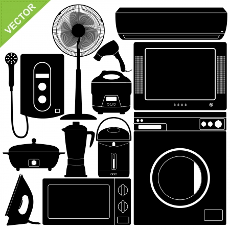 Home Appliances Electronic collections  Stock Illustratie