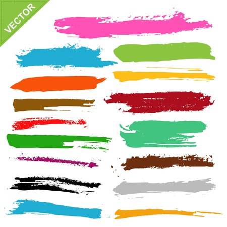 paint strokes: brush strokes  Illustration