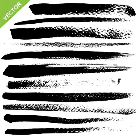 brush strokes vector Stock Vector - 17376906