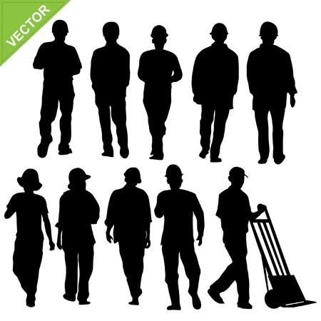 construction workers: labour sillouette