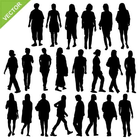 businesswoman skirt: Women silhouette