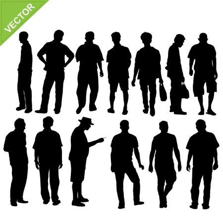 old people: silhouette homme Illustration