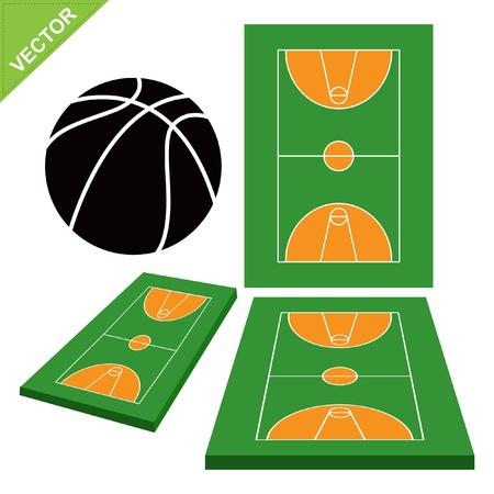 Basketball court vector Stock Vector - 17372607
