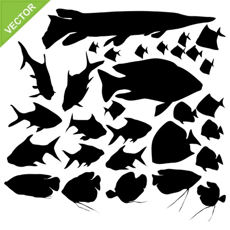tropical fish: Fish silhouettes collections