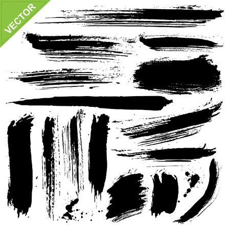 paint brush: brush strokes vector