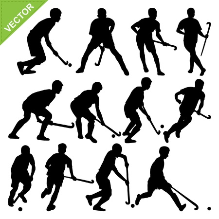 ice hockey player: Hockey player silhouettes