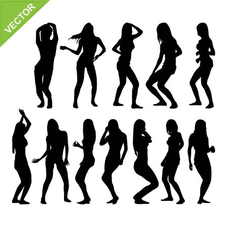 Sexy woman silhouettes  Stock Vector - 18544613