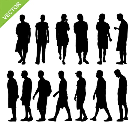 Men silhouetten vector