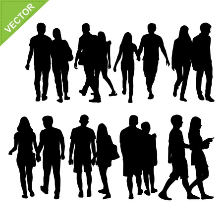 Couples silhouettes  Stock Vector - 18820744