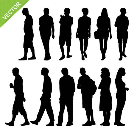 Peoples silhouettes vector Stock Vector - 18820703