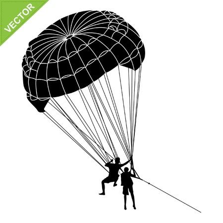 tandem: Parachute silhouette